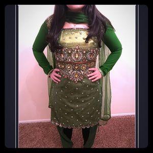 Indian dress anarkali salwar kameez punjabi